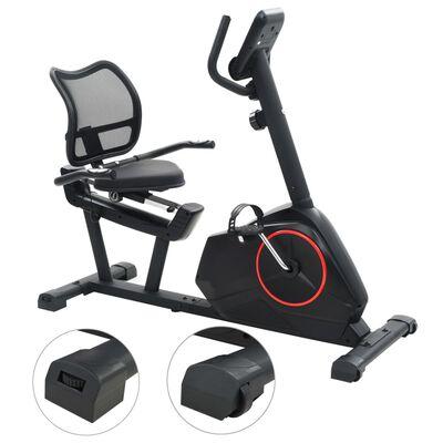 vidaXL Vélo d'appartement magnétique couché avec mesure du pouls