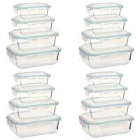 vidaXL Récipients alimentaires en verre 16 pcs