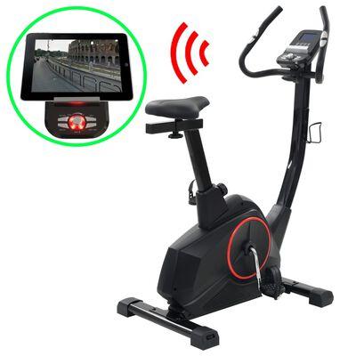 vidaXL Vélo d'appartement magnétique avec mesure du pouls Programmable