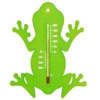 Nature Thermomètre mural d'extérieur Grenouille Vert