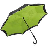 Parapluie standard FP7715 - noir et vert lime