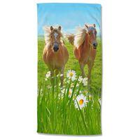 Good Morning Serviette de plage HORSES 75x150 cm Multicolore