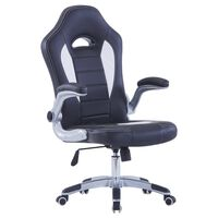 vidaXL Chaise de jeu Noir Similicuir