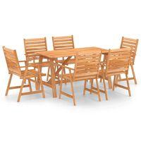 vidaXL Mobilier de salle à manger de jardin 7 pcs Bois d'acacia solide