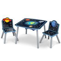 Delta Children Table et chaises enfant avec rangement Noir