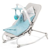 Kinderkraft Transat pour bébé 3 en 1 FELIO Bleu clair
