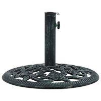 vidaXL Socle de parasol Vert 9 kg 40 cm Fonte