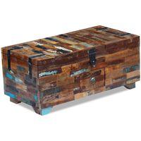 vidaXL Coffre table basse Bois de récupération massif 80 x 40 x 35 cm