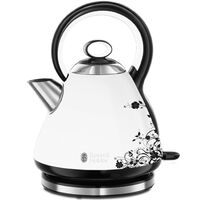 Russell Hobbs Bouilloire Legacy Floral Blanc 1,7 L 2000-2400 W
