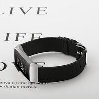 Fitbit Charge 3 Bracelet toile noir - L