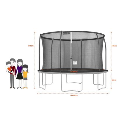 GREADEN Trampoline de jardin rond FREESTYLE « + » 430