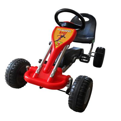vidaXL Kart à pédales Rouge