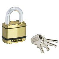 Master Lock Cadenas Excell 2 pcs Laiton massif 52 mm M5BEURD