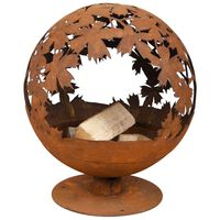 Esschert Design Foyer Design de feuilles Couleur rouille FF293
