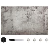 vidaXL Tableau noir magnétique mural Verre 100x60 cm