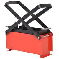 vidaXL Presse à papier de recyclage Acier 34 x 14 x 14 cm Noir et rouge