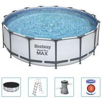 Bestway Ensemble de piscine Steel Pro MAX Rond 457x122 cm