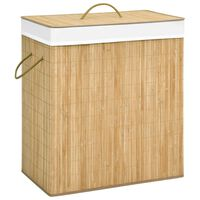 vidaXL Panier à linge Bambou 100 L