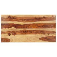 vidaXL Dessus de table Bois solide 25-27 mm 60x120 cm