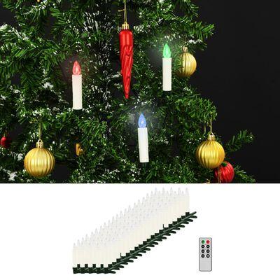 vidaXL Bougies LED sans fil de Noël avec télécommande 100 pcs RVB