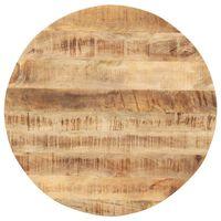 vidaXL Dessus de table Bois de manguier solide Rond 15-16 mm 80 cm
