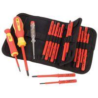 Draper Tools Testeur de tension et de tournevis isolé 18 pièces 05776