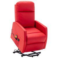 vidaXL Fauteuil inclinable de massage Rouge Similicuir