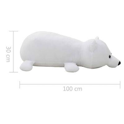 vidaXL Ours polaire en peluche 260 cm Blanc