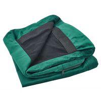 Housse en velours vert pour fauteuil BERNES