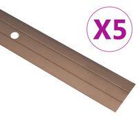 vidaXL Profils de sol 5 pcs Aluminium 90 cm Marron