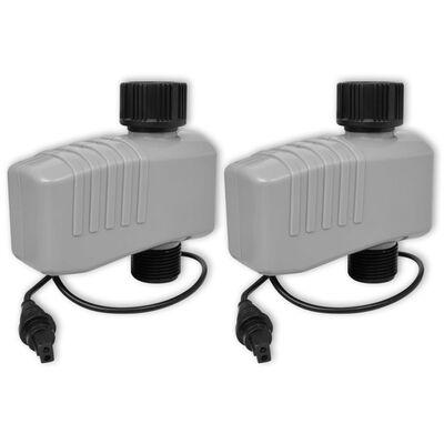 vidaXL Minuterie automatique d'irrigation avec 4 stations 3 V