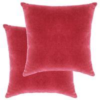 vidaXL Coussins en velours de coton 2 pcs 45 x 45 cm Rose