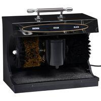 vidaXL Machine électrique de polissage de chaussures automatique Noir