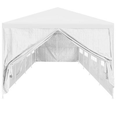 vidaXL Portes de tente de réception 2 pcs avec fermeture éclair Blanc