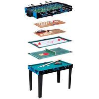 Van der Meulen Table de jeux multiples 10 en 1 107x61x80 cm