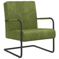 vidaXL Chaise cantilever Vert clair Velours