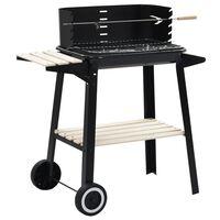 vidaXL Barbecue au charbon de bois avec roulettes