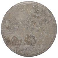 vidaXL Dessus de table Gris Ø40x2,5 cm Marbre