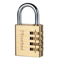 Master Lock Cadenas à combinaison Aluminium Jaune 40 mm 604EURD