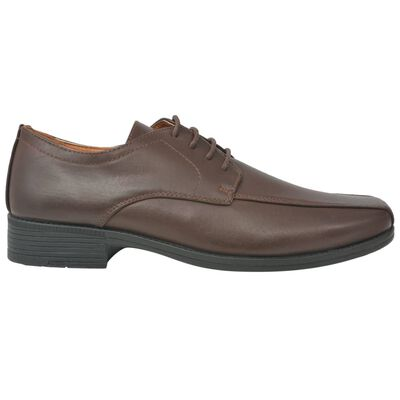 vidaXL Chaussures à lacets pour hommes Marron Pointure 42 Cuir PU