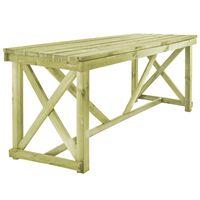 vidaXL Table de jardin 160 x 79 x 75 cm Bois