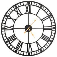 vidaXL Horloge murale vintage avec mouvement à quartz Métal 60 cm XXL