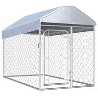 vidaXL Chenil d'extérieur avec toit pour chiens 200 x 100 x 125 cm