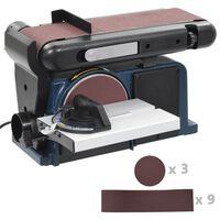 vidaXL Ponceuse à disque et à bande électrique 370 W 150 mm