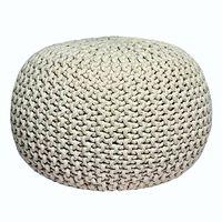 LABEL51 Pouf tricoté Coton M Naturel