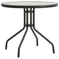 vidaXL Table de bistro Anthracite Ø80x71 cm Acier
