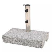 vidaXL Socle de parasol Granite rectangulaire 25 kg