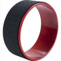 Pure2Improve Roue de yoga 30 cm Noir et rouge