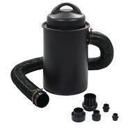 vidaXL Collecteur de poussière avec adaptateur Noir 1100 W