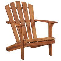 vidaXL Chaise de jardin Adirondack Bois d'acacia massif
